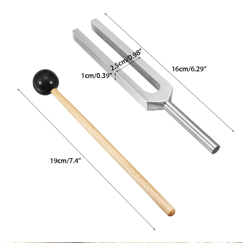 528Hz Medical Tuning Fork Chakra Hammer Sound Healing Therapy Diagnostic with Mallet