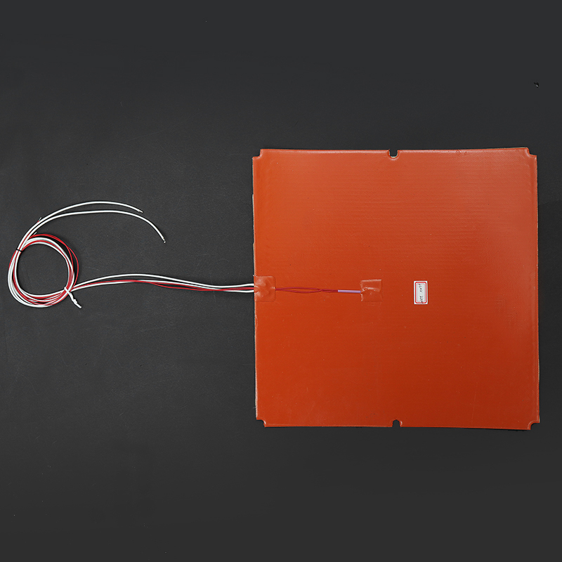 750W Silicone Pad Heater 3D Printer Thermistor 330x330mm Heated Bed Pad