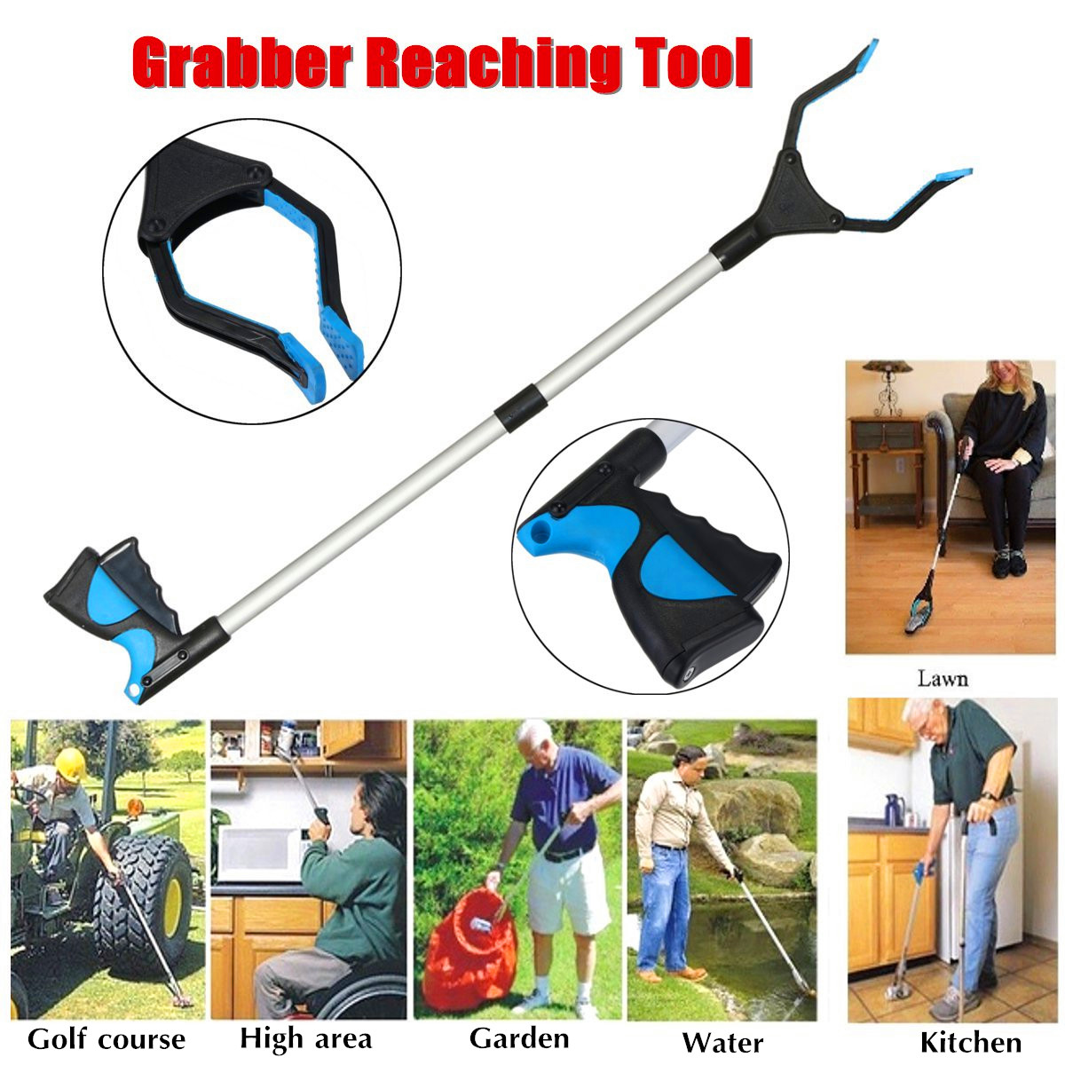 32inch Reaching Grabber Tool Reacher Handicap Grip Aid Trash Pick Up Easy Reach