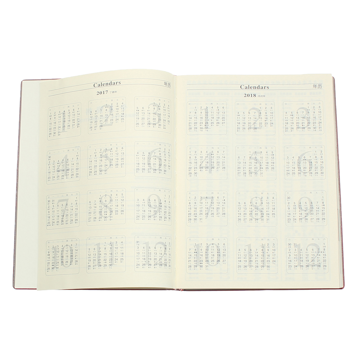 A4 Planner Synthetic Leather Loose Leaf Weekly Notebook with 180 Sheets