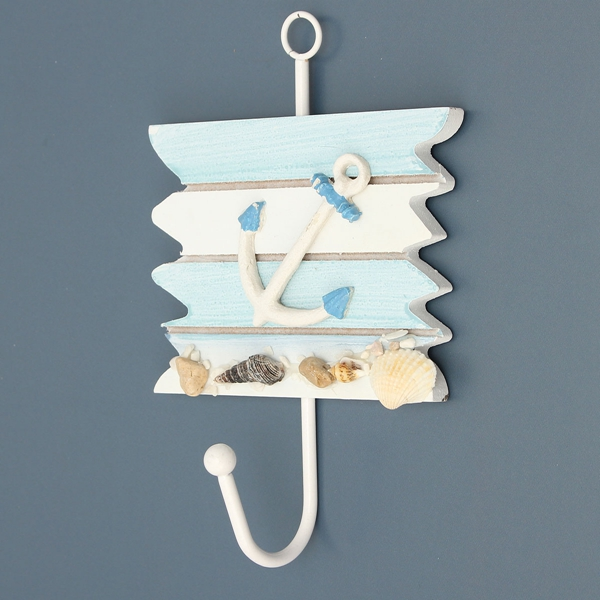 Creative Vintage Ocean Style Hook Clothes Robe Key Holder Hat Hanger Wall Home Decoration