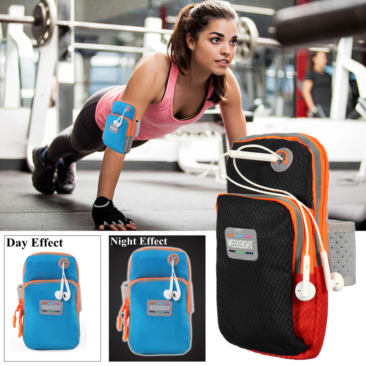 Sports Running Jogging Armband Bag Case For iPhone X/8 Plus/7 Plus/Samsung Galaxy S9 Plus/Note 8