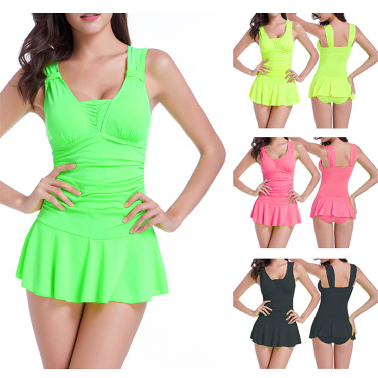 Conservative Push Up Wireless One Piece Bathing Suits