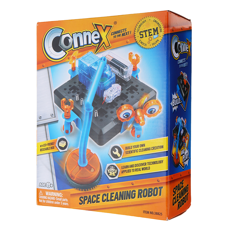 Connex 38825 Space Cleaning Robot Science Model Experiment Toy Gift Collection With Packing Box