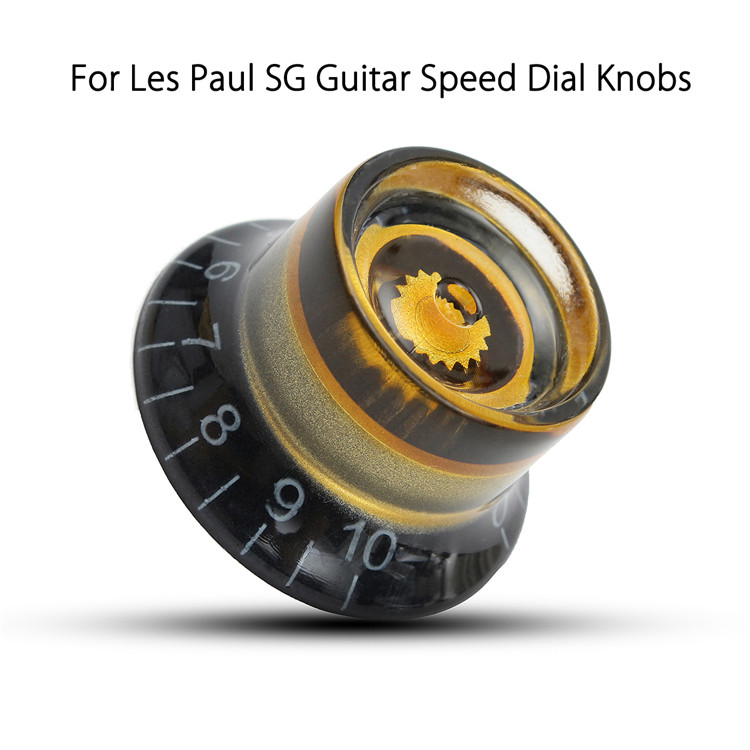 1PC Black Gold Plastic Electric Guitar Volume Voice Speed Knobs For Les Paul Guitar