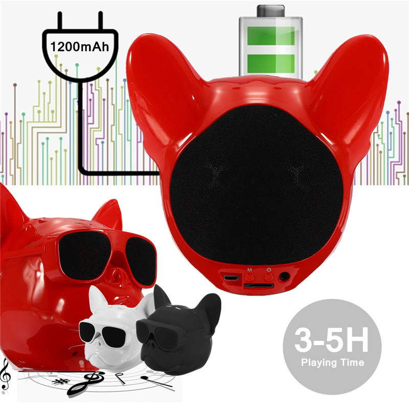Portable Bulldog Stereo Touch Control 3.5mm TF Card Hands-free Calls Wireless bluetooth Speaker