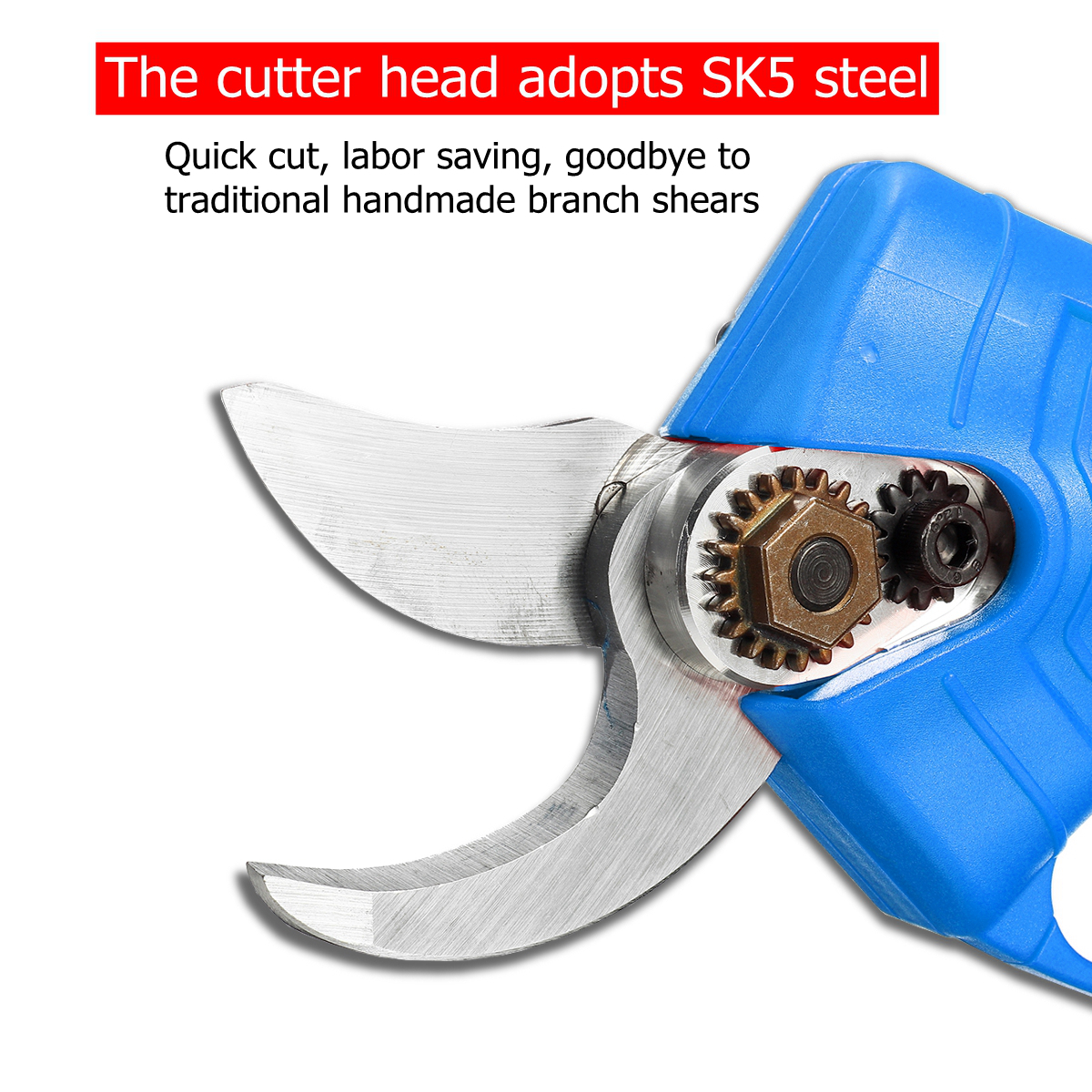 21V Wireless Electric Scissors Pruning Shears Cutter Power Tool W/ 1 or 2 Lithium Battery