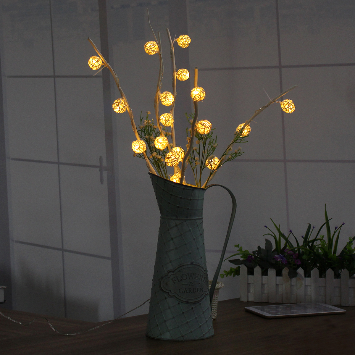 5M White Warm White 25LED Twig Tree Branches Table Holiday String Light Decoration AC110-220V