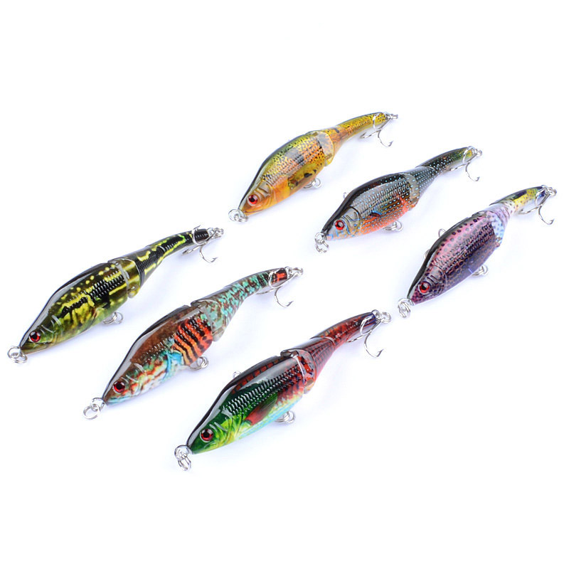 ZANLURE 6PCS 9.5CM 8.9G Fishing Lures Multi-Sections Sw