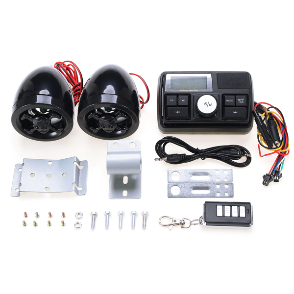 12V Motorcycle Alarm Audio Scooter Modified Accessories With Radio Function