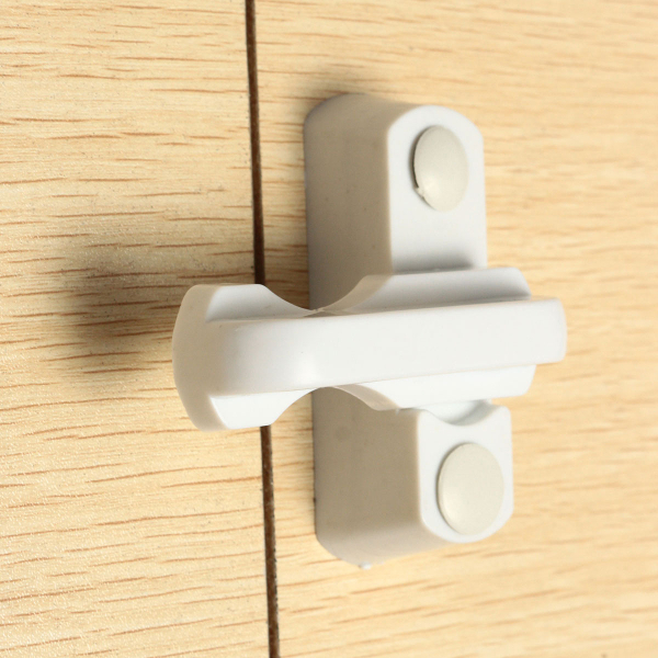 Plastic White Crescent Window Casement Sash Lock Lever Handle Latch Fastener