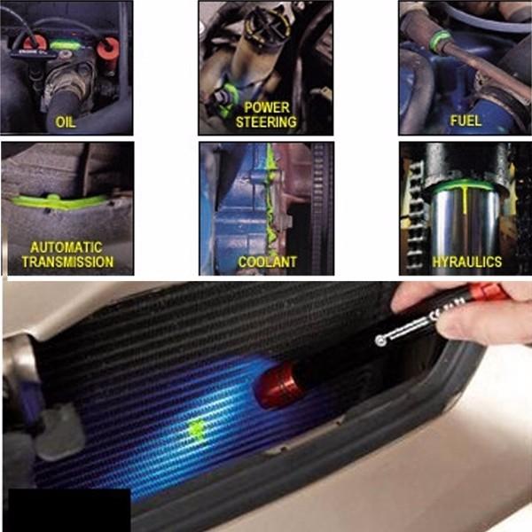 Fluorescent Oil Leak Detection Leak Test UV Dye For Car A/C Pipeline Fuel Coolant Hydraulics Repair