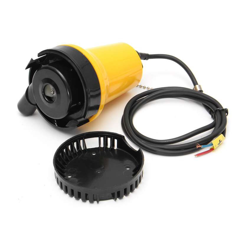 12V 50W 1110GPH 4600rpm Electric Submersible Water Pump Clean Clear Dirty Pool Pond Flood
