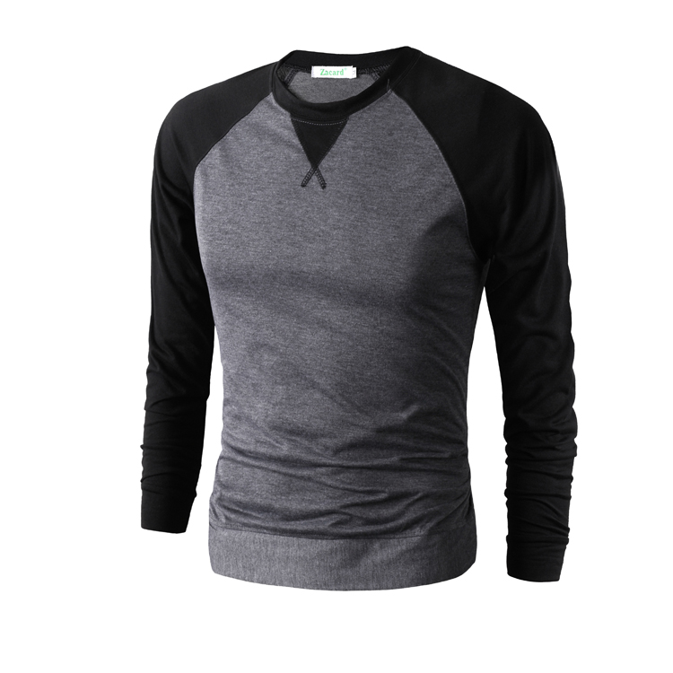 Men's Slim Fit Sticting Color Round Neck T-shirts