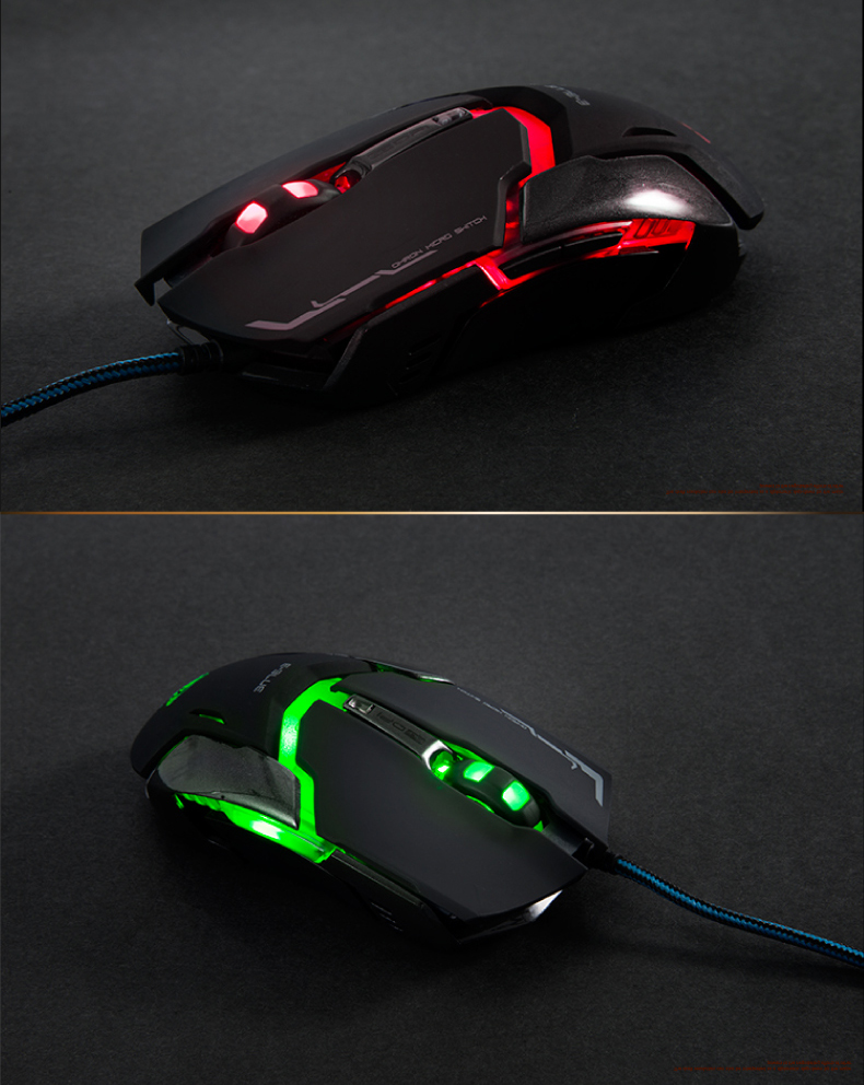 E-Blue EMS618 4000DPI 1000Hz 6 Buttons USB Wired Optical Gaming Mouse For PC Computers Laptops