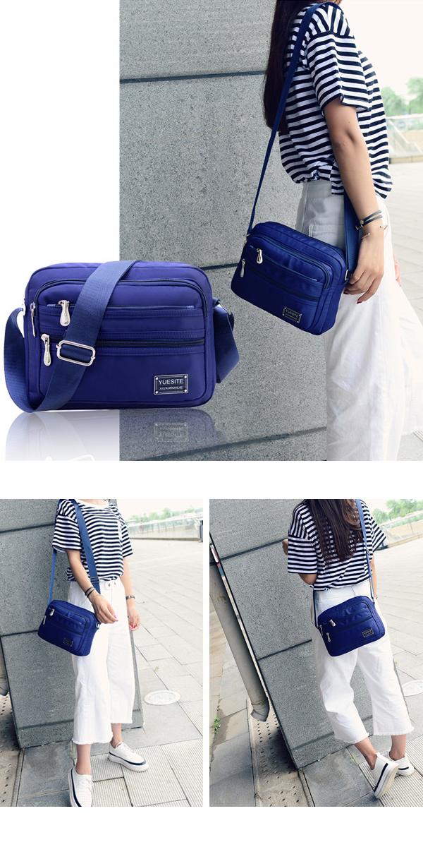 Women Nylon Light Waterproof Fashion Crossbody Shoulder Bag