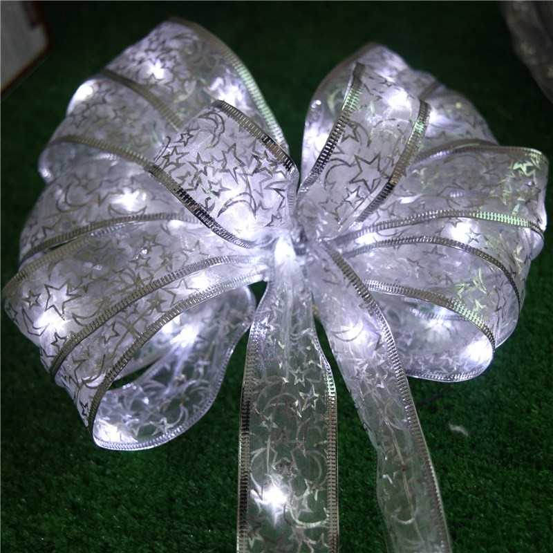 Christmas 4M 40 LED Ribbon Light String Indoor Wedding Room Christmas Decorative Lights Battery