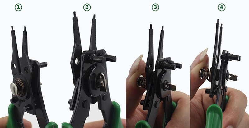 BERRYLION 4 in 1 Circlip Plier Flexible Head Snap Ring Pliers Circlip Combination Pliers Retaining Multitool 8