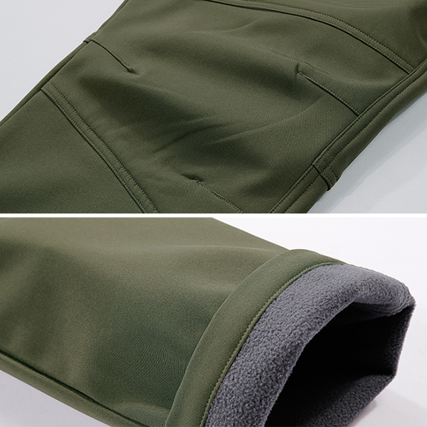 Mens Outdoor Thick Fleece Water Resistant Pants