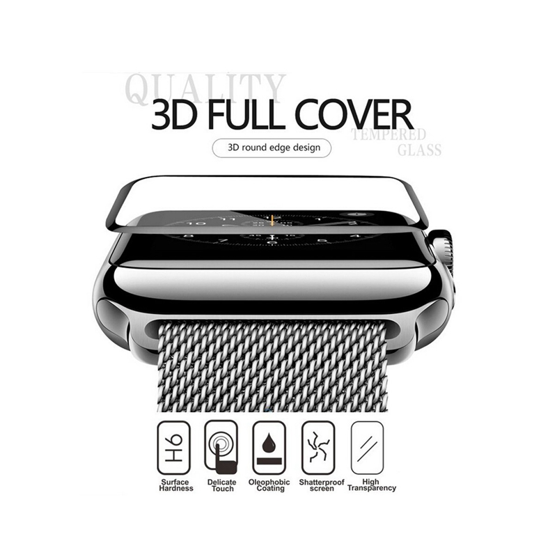 Enkay 3D Aluminum Alloy Bumper Frame+Tempered Glass Screen Protector For Apple Watch Series 1/2 38m