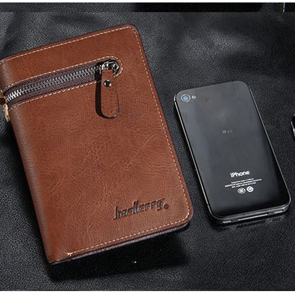 Men PU Leather Vintage Business Wallet 15 Card Slots Coin Bag Card Holder Purse