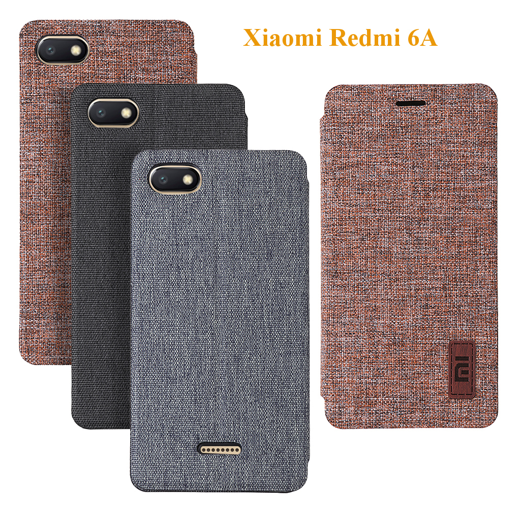 Bakeey Flip Shockproof Fabric Soft Silicone Edge Full Body Protective Case For Xiaomi Redmi 6A