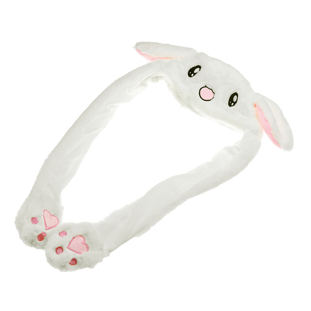 55CM Rabbit Ear Hat Can Move Airbag Cap Plush Gift Record Video Dance Toys