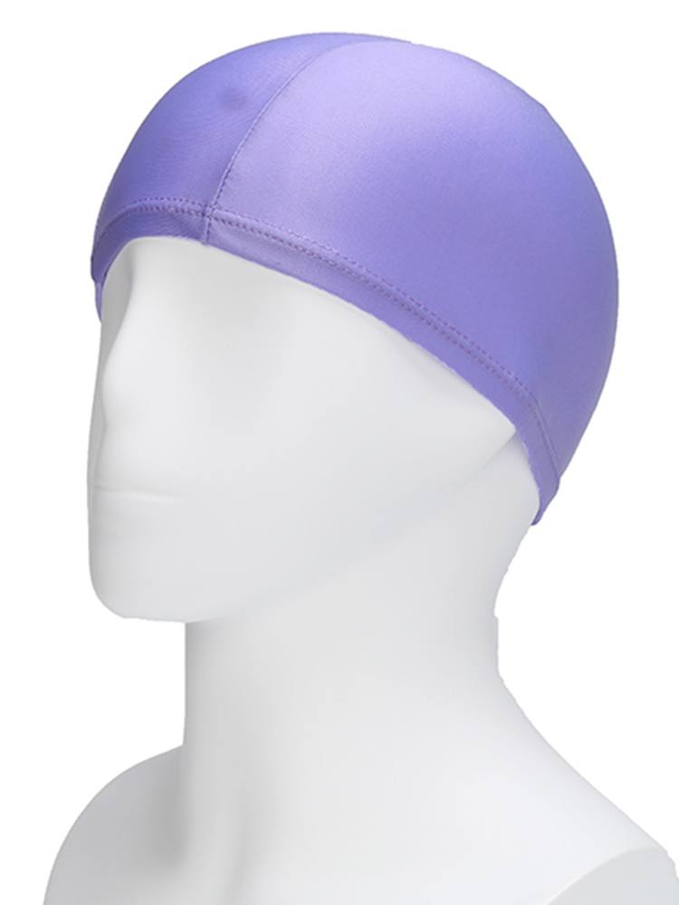 Solid Color Stripe Stretch Waterproof Unisex Swimming Hat