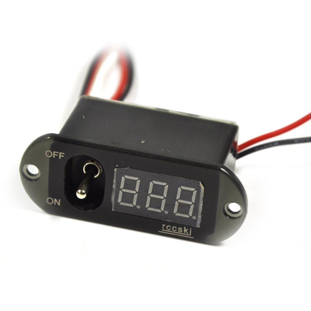 Rccskj 3 In 1 Methanol Nitro Ignition With Voltmeter And Large Current Digital Display Switch
