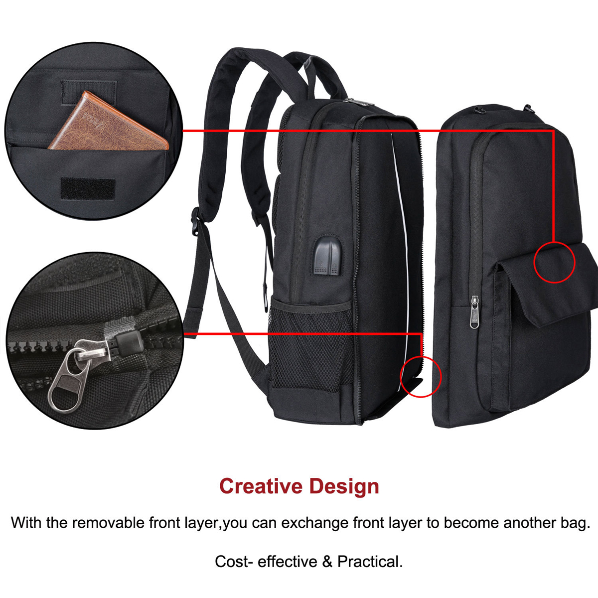 Men's Sports Bags Basketball Backpack USB Charging School Bags For Teenager Boys Soccer Ball Pack 17inch Laptop Bag With Football Net
