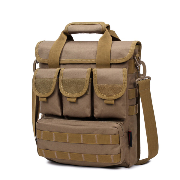 Men Tactical Bag Camo Military Shoulder Bag Outdoor Casual Handbag Hiking Sport Bag