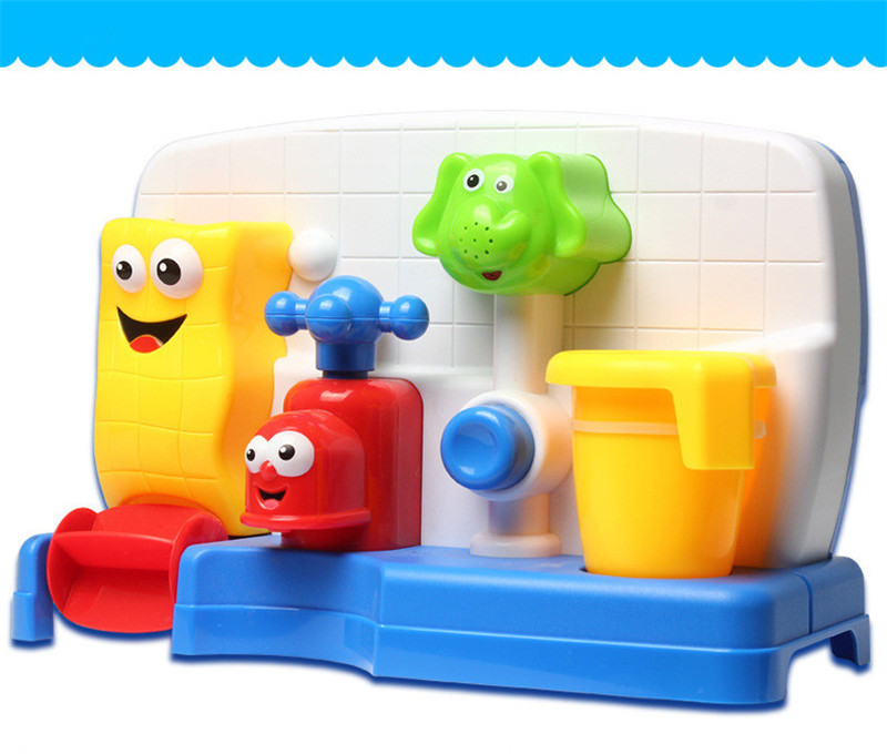 Creative Cartoon Faucet Shape Water Bathing Toys For Kids Children Playing Gift
