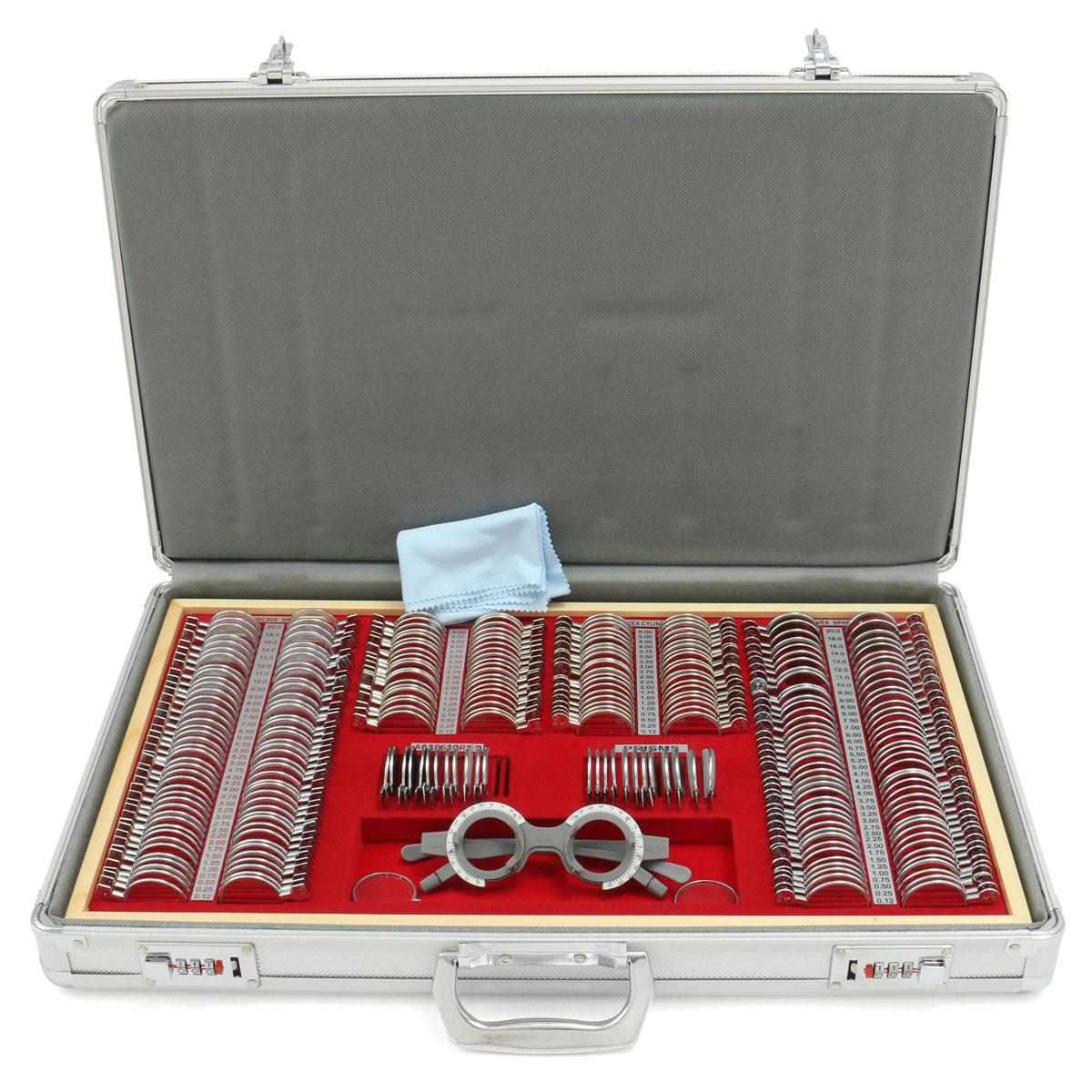 266Pcs Оптометрия Объектив с 1 испытательной рамкой для оптометрии Очки Принадлежности