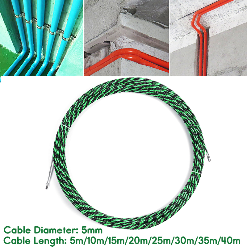 30M Cable Puller Fiberglass Wire Puller Electrical Tool Fish Tape Cable