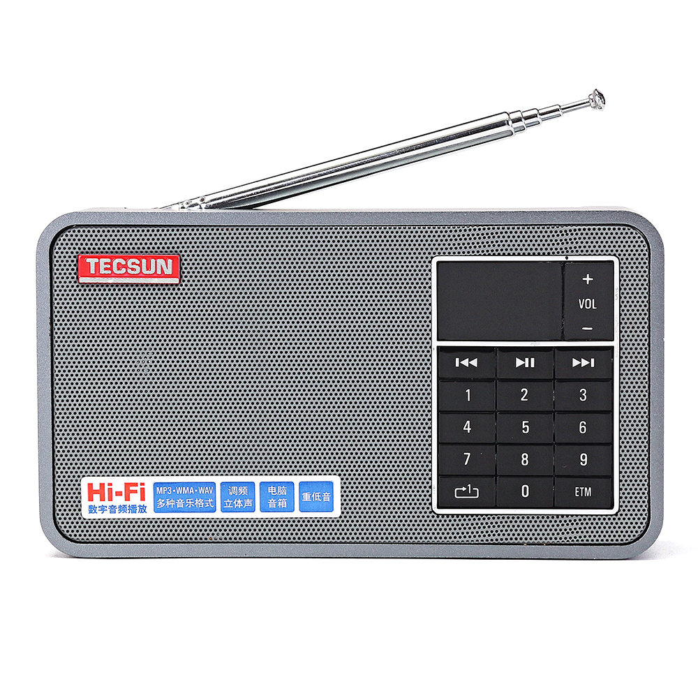 Tecsun X3 FM 64-108MHz Radio Receiver MP3 Player Speaker Support TF Card