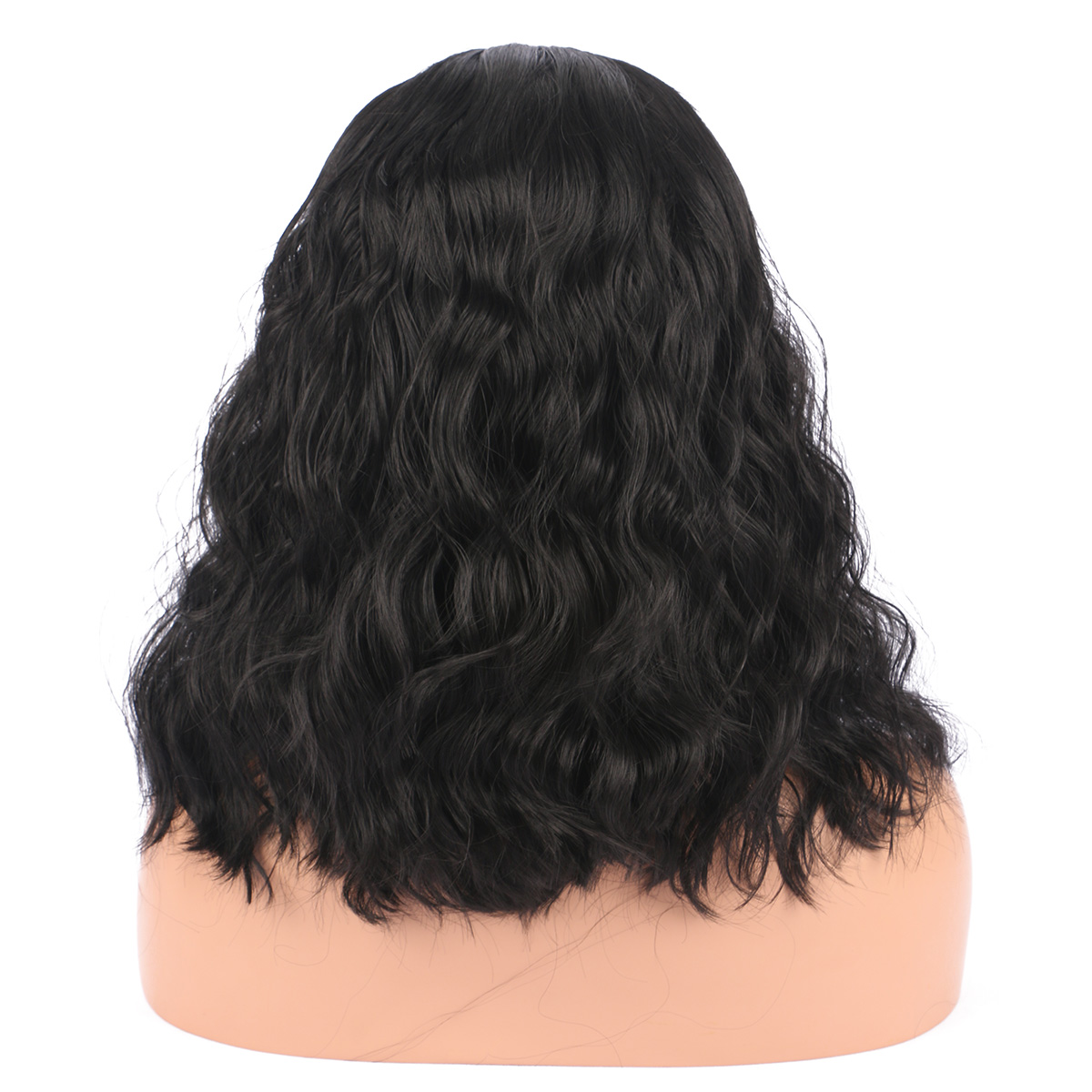 Mid-Length High Temperature Silk Fiber Wig