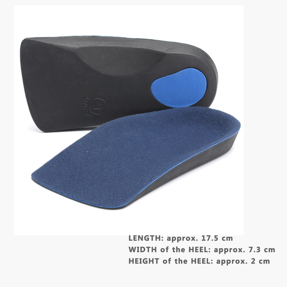 Durable 3/4 Orthotic Insoles Heel Arch Support Plantar