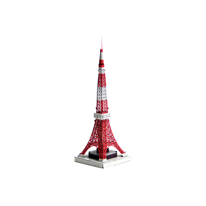 Aipin DIY 3D Tokyo Tower Puzzle Stainless Steel Model Kit Collection Gift Home Office Desk Decor