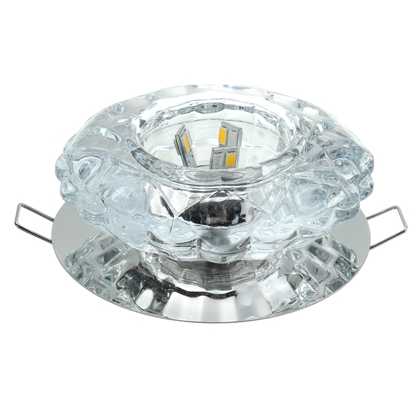 Modern 3W Crystal Ceiling Light Fixture Flush Mounted Pendant Chandelier Lamp for Aisle Hallway