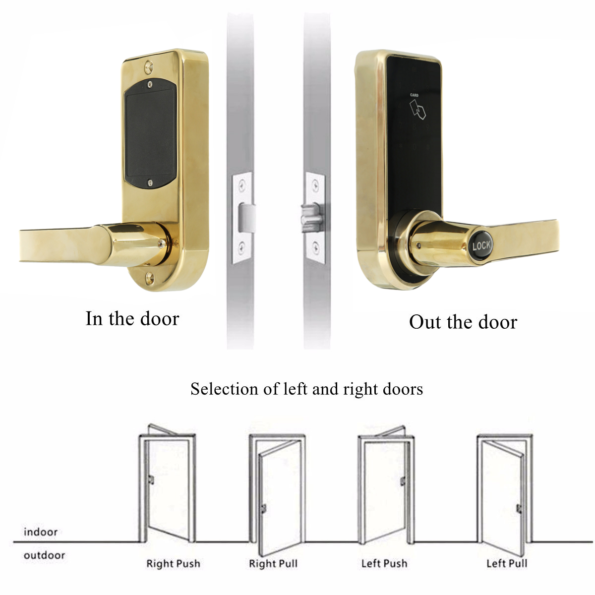 Electronic Digital Smart bluetooth Password Door Lock Keypad Touch Screen