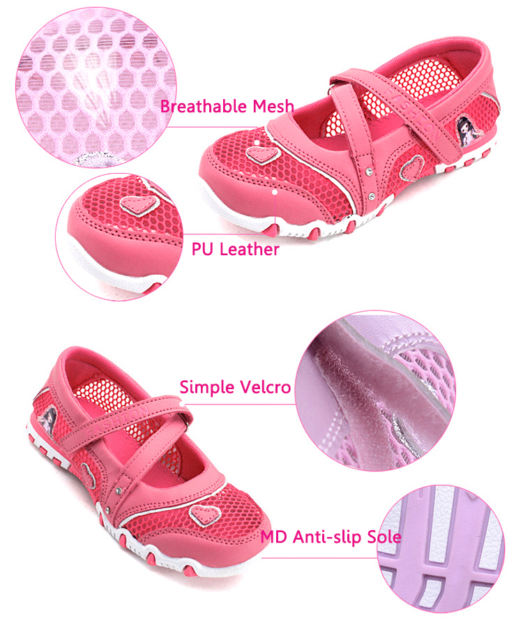 2016 New Girl Sandals Children Summer Shoes Kids Breathable Mesh Beach Footwear