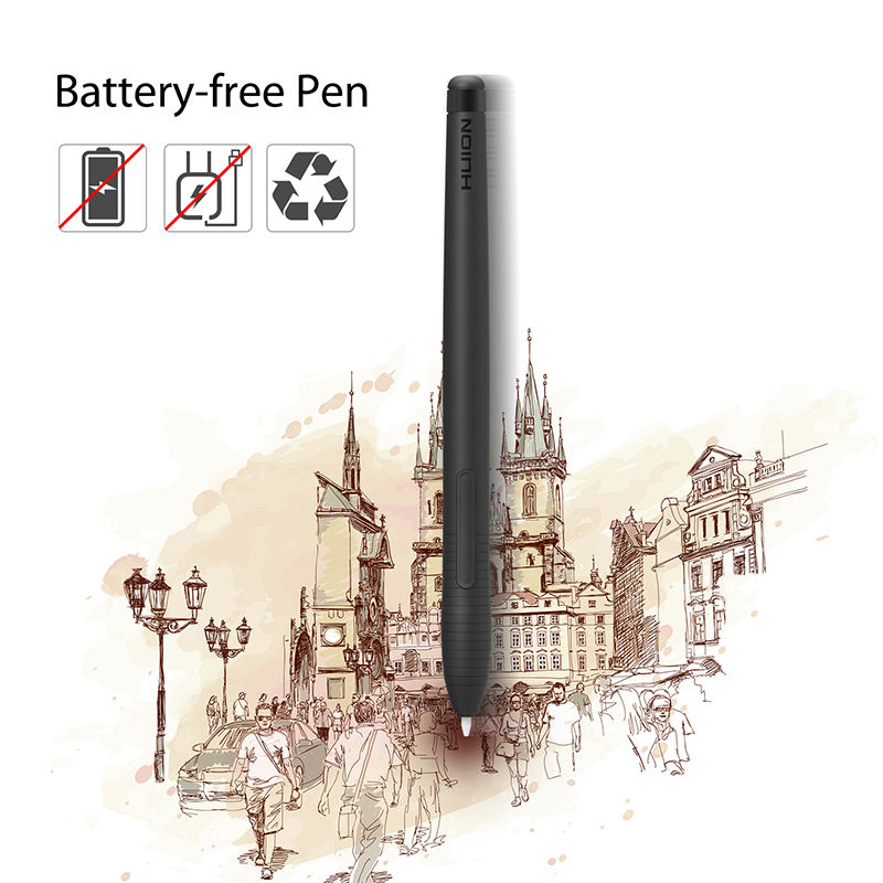 HUION H430P Digital Tablet Signature Graphics Drawing Pen Tablet OSU Game Battery-Free Tablet Board