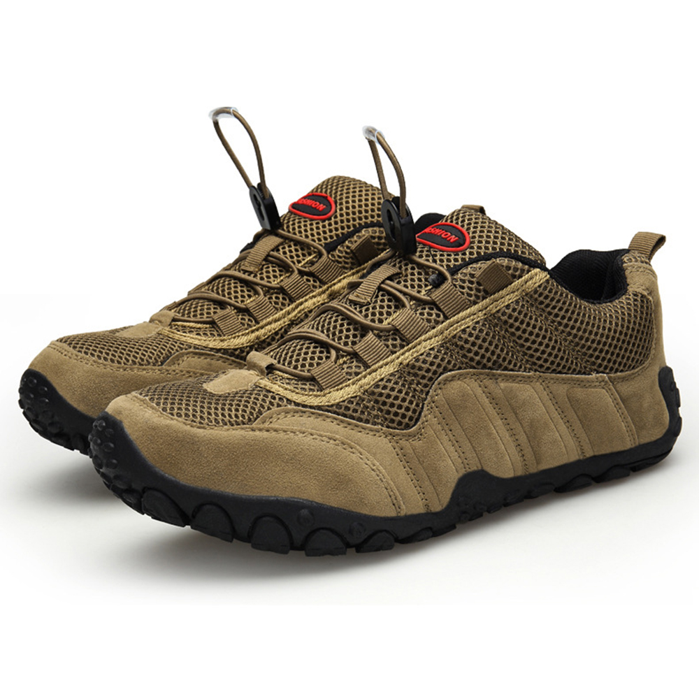 Men Soft Meh Suede Outdoor Hiking Athletic Shoes Sneakers