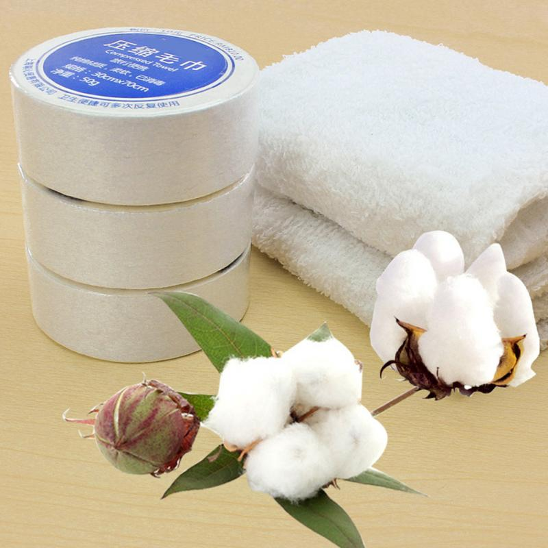 Compressed Towel Magic Outdoor Travel Wipe 30*70CM Soft Cotton Expandable Just Add Water Towels Space Saving Portable Towels Cotton Hotels Camping Trip Practical Easy Carry Portable Towels