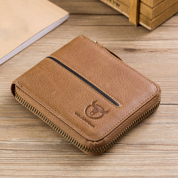 Men Casual Genuine Leather Multi-Card Card Holder Wallet