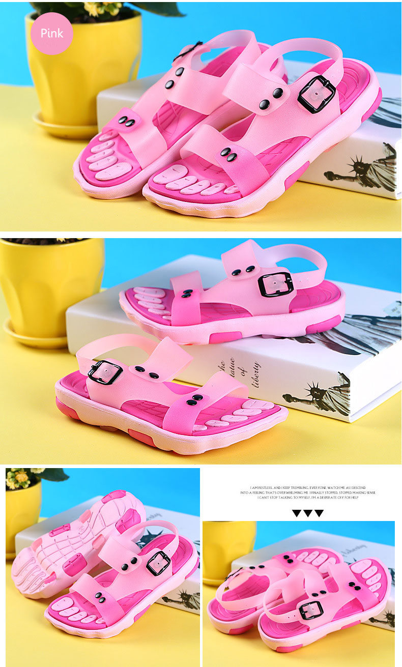 Boys Girls Summer Beach Sandals Children Slip Resistant Wear-resistant Shoes Kids Slippers