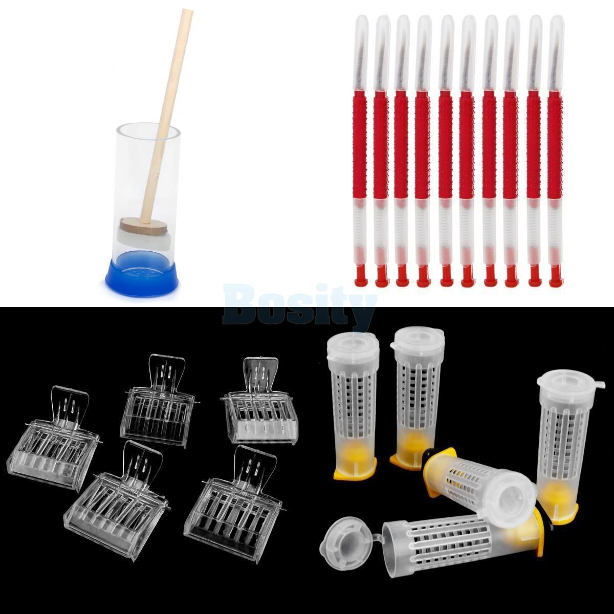 Queen Marking Cage Bee Clip Catchers Grafting Tool Hair Roller Cages Beekeeping Tools Set