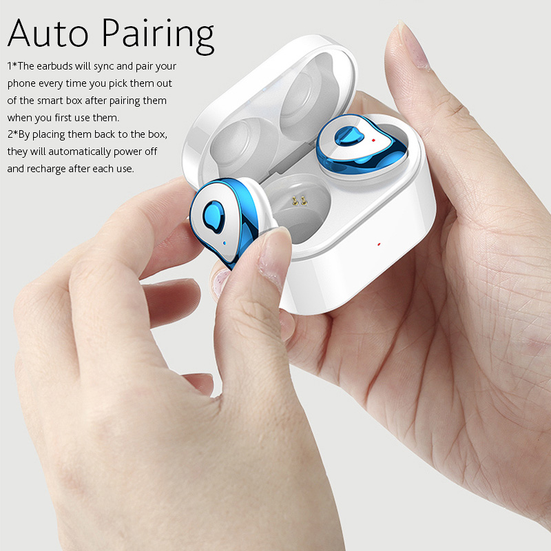 [bluetooth 5.0] Bakeey TWS True Wireless Earbuds Stereo Auto Paring Earphone with Mic Charging Box