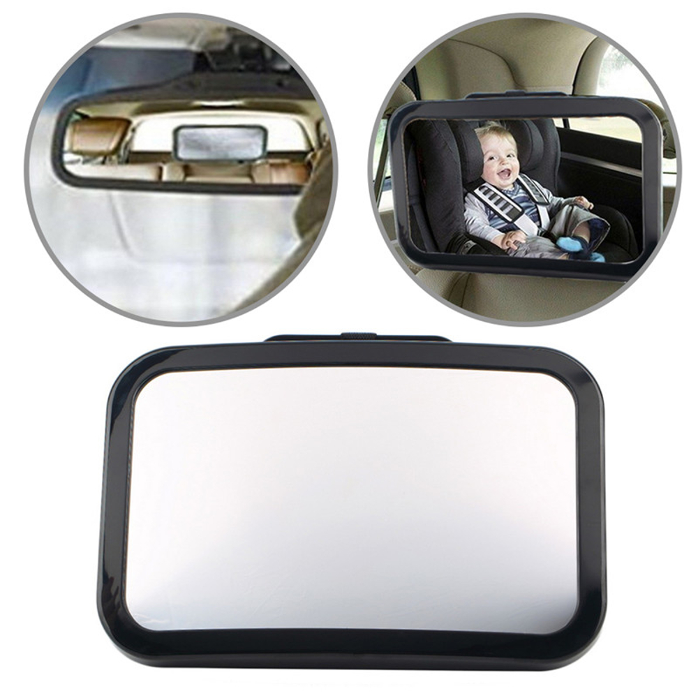 360° Rotatable Car Safety Reverse Baby Back Seat Rear View Mirror Headrest Square Baby Monitor