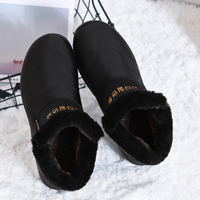 Women Snow Ankle Boots Slip On Warm Waterproof Flat Boots